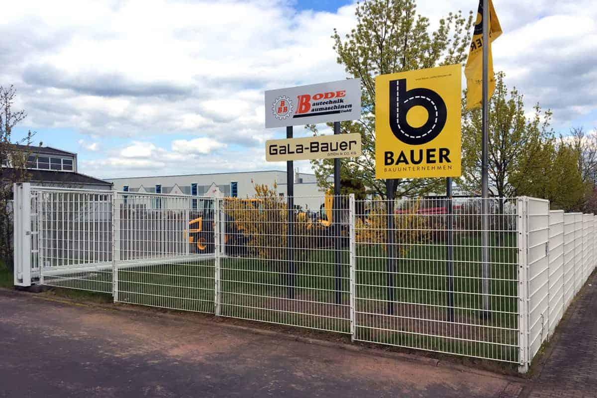 Außenwerbung, Beschilderung, Tiefbau Bauer Walterhausen