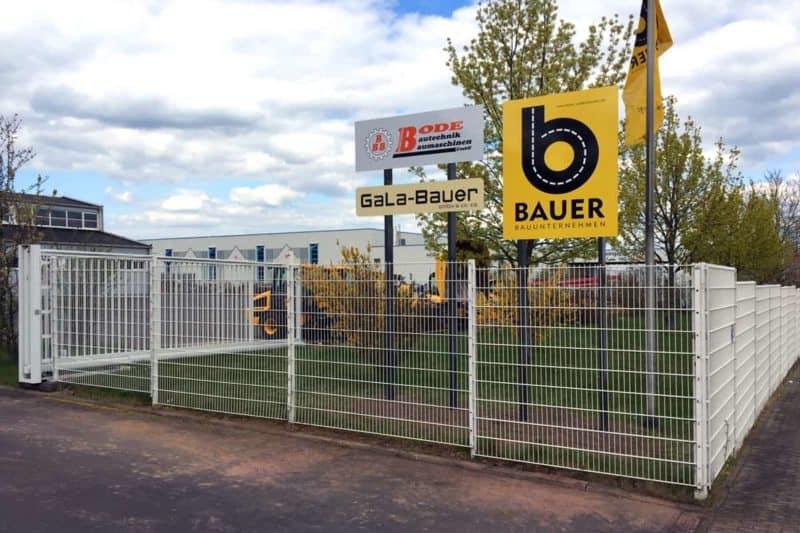Informationsbeschilderung Tiefbau Bauer Waltershausen