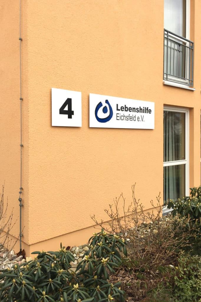 Informationsbeschilderung Lebenshilfe Duderstadt