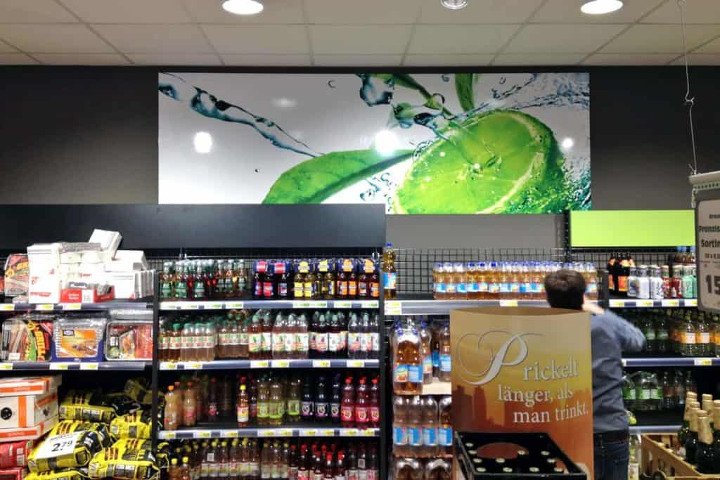 Informationsbeschilderung Getränkemarkt Glahn Worbis