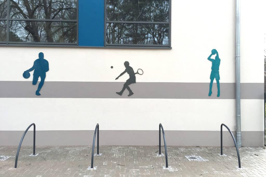 Informationsbeschilderung gefräste Silhouetten Heiligenstadt