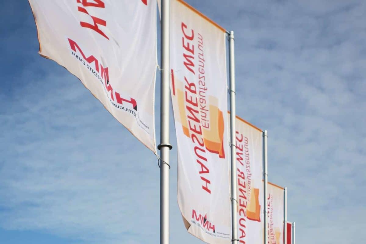 Textildruck Fahnen Flaggen KIK HMM Einkaufszentrum Worbis 03