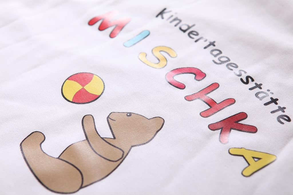Transferdruck individuell und hochwertig für den Mischka Kindergarten in Worbis