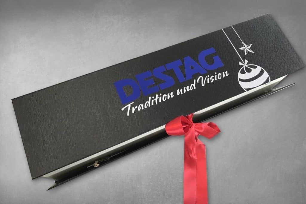 Verpackungsdesign eines Weihnachtsgeschenkes für die  DESTAG GmbH