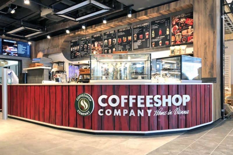 Menüboard und Vollacrylbuchstaben Coffeeshop Company Gropius Passagen