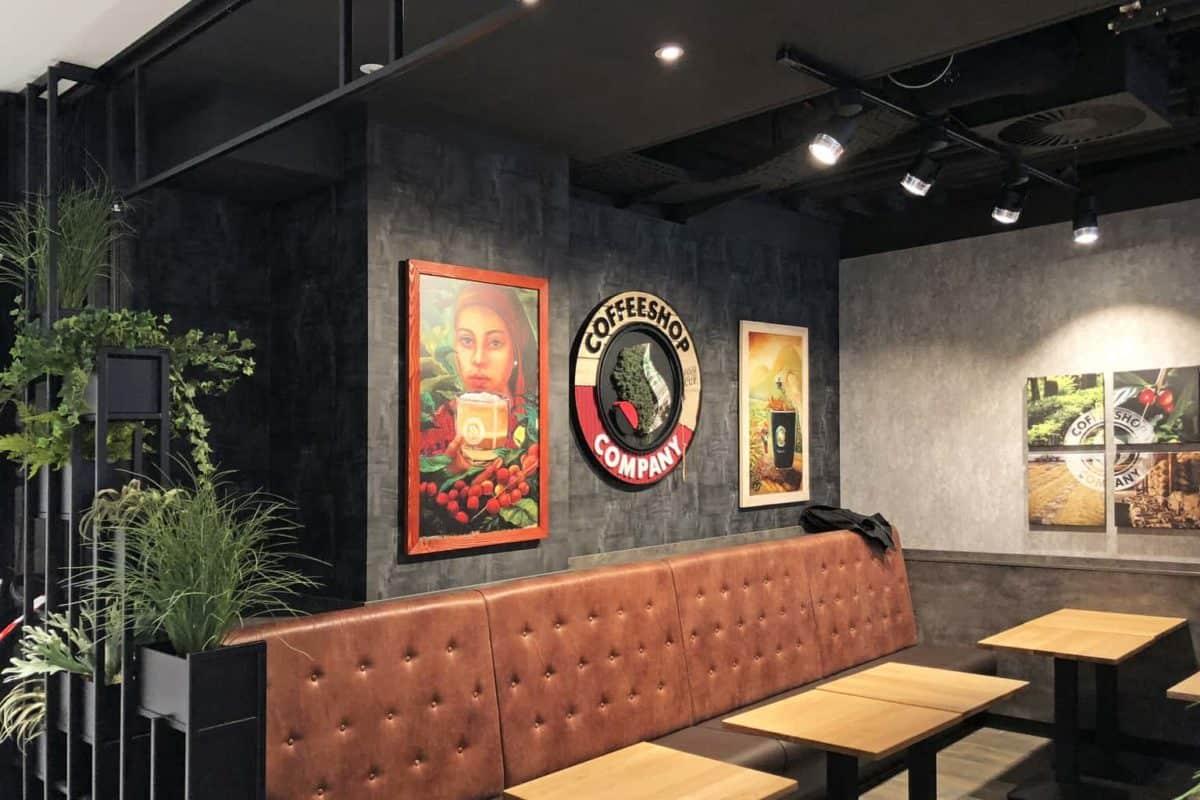 Wandgestaltung, Coffeeshop company, gropius passagen, Bilder, Rahmen
