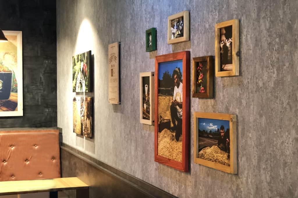 Interieur Wandgestaltung Coffeeshop Company Gropius Passagen, Bilderrahmen