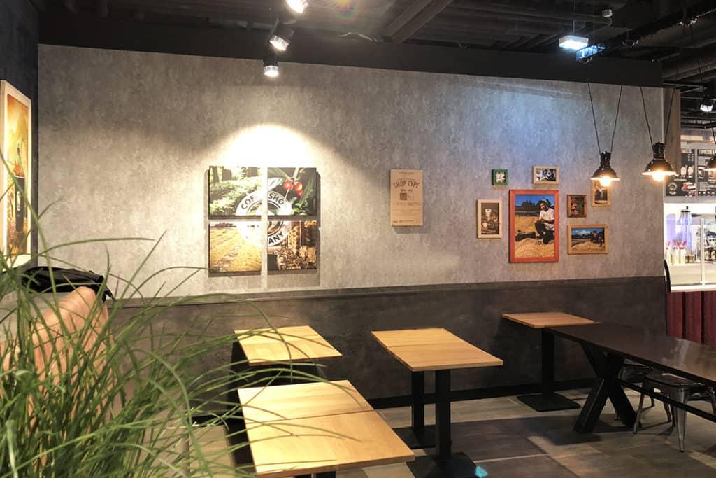 Interieur Wandgestaltung Coffeeshop Company Gropius Passagen, Druck Wandbilder