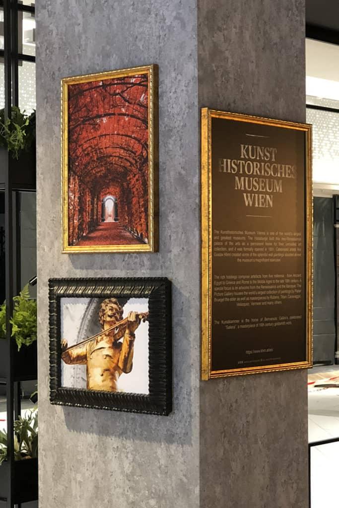 Interieur Wandgestaltung Coffeeshop Company Gropius Passagen, Druck Wandbilder, individuell angefertige Rahmen