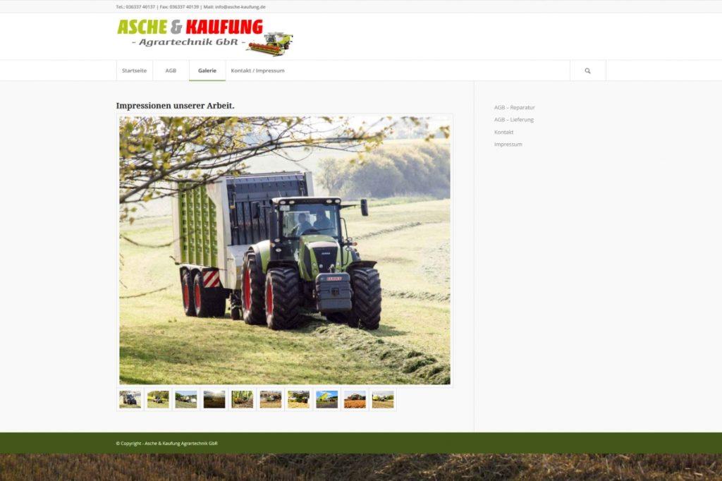 Website Asche & Kaufung Agrartechnik GmbH, Bildergalerie