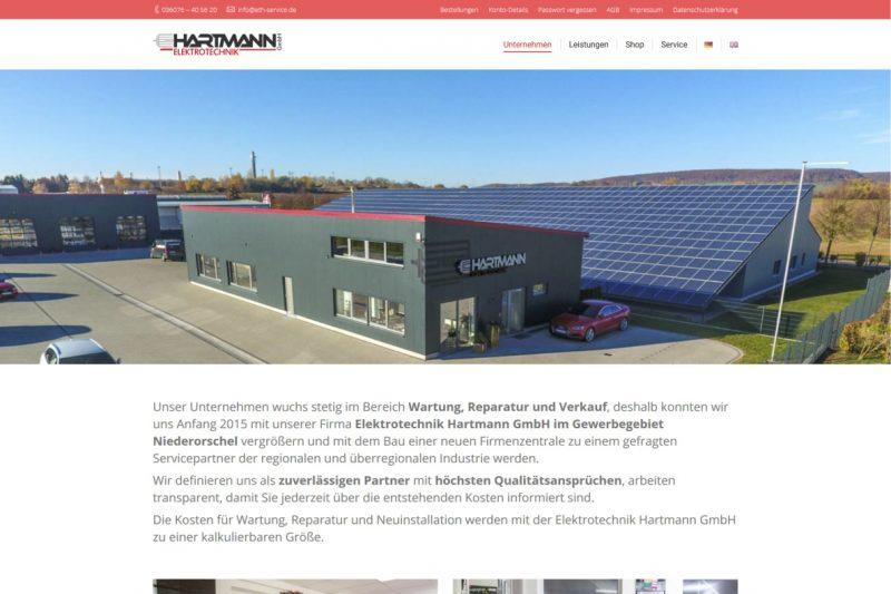 Website Elektrotechnik Hartmann GmbH, Niederorschel