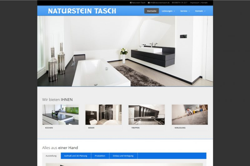 Website Naturstein Tasch