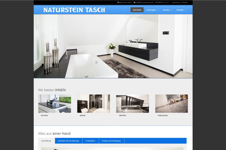 Website, Naturstein Tasch, Referenzen