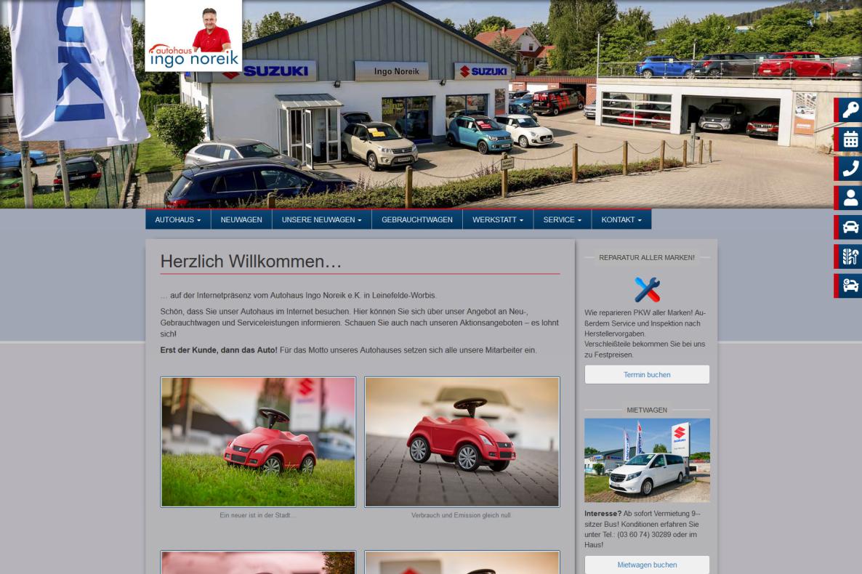 Website Autohaus Ingo Noreik Worbis