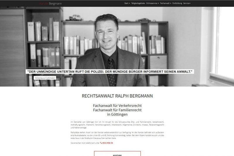 Website Rechtsanwalt Ralph Bergmann
