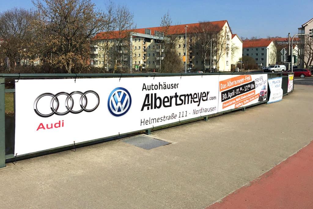 Werbeplane Autohaus Albertsmeyer