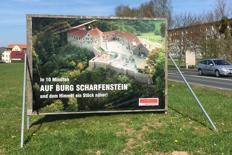 Werbeplane Burg Scharfenstein
