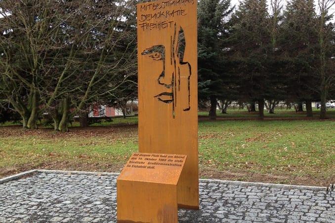 Werbepylon Denkmal Kortenstahl Leinefelde