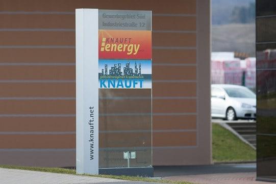 Werbepylon Knauft Energy Leinefelde