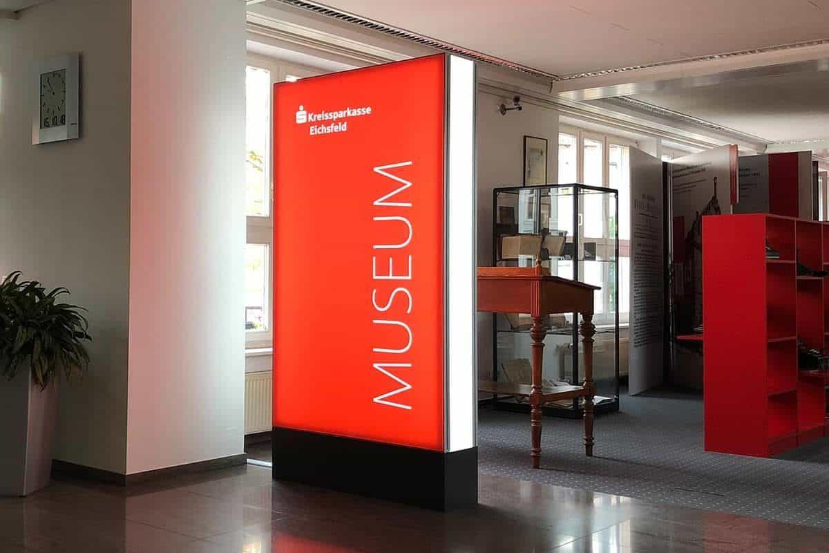 Werbepylon Kreissparkasse Eichsfeld Museum