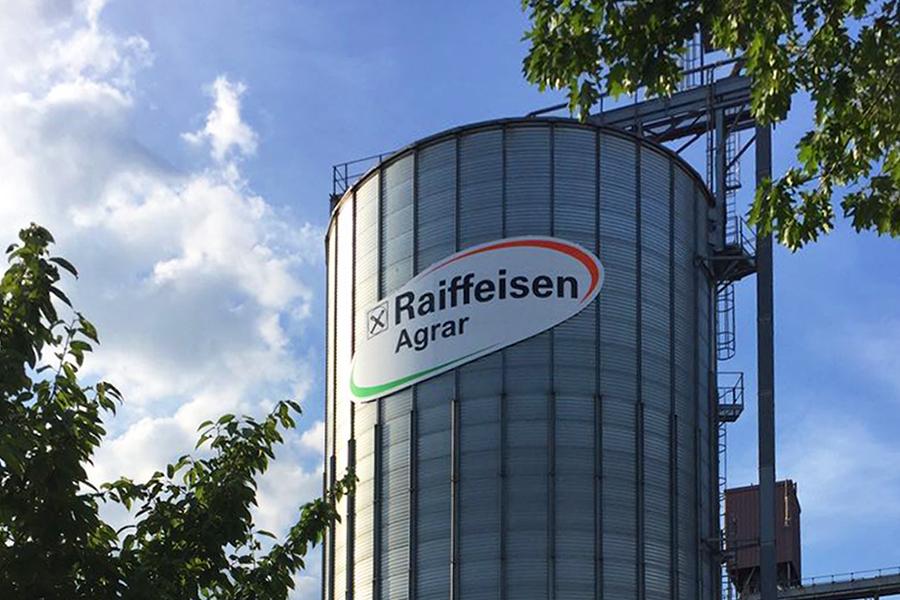 Außenwerbung Raiffeisen Silo Wolfsburg