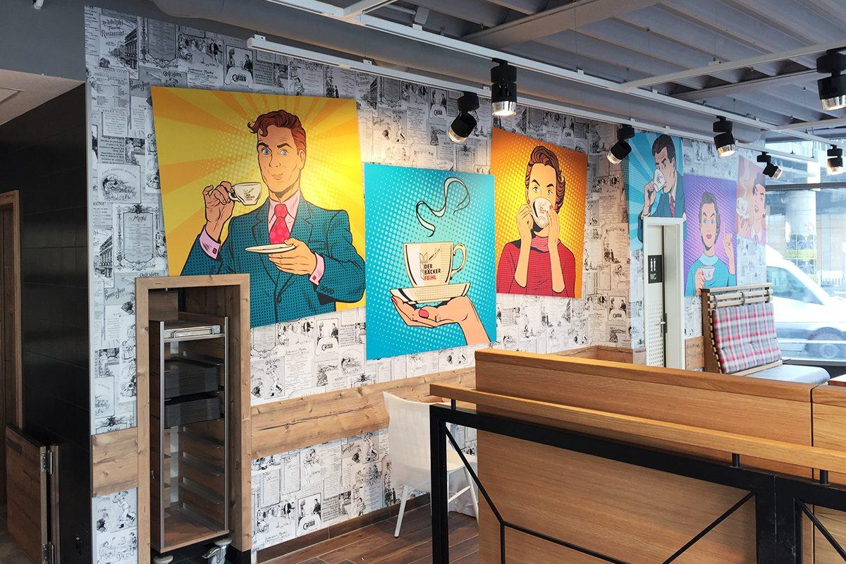 Interieur Wandgestaltung Der Bäcker Feihl Karlshorst