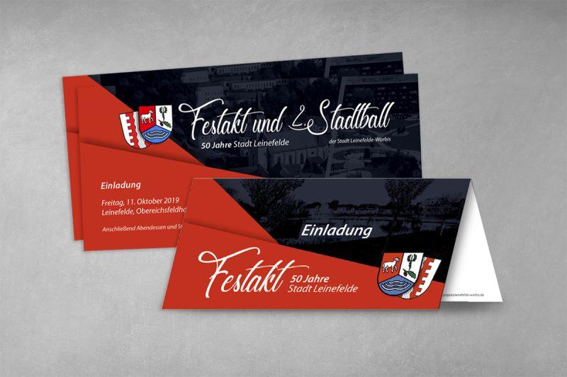 Veranstaltunswerbung Festakt 50 Jahre Leinefelde-Worbis
