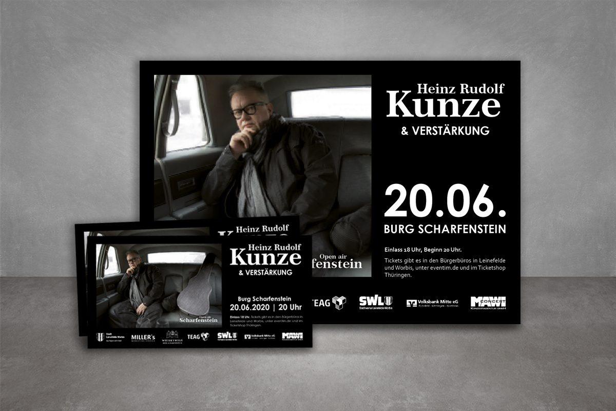 Veranstaltungswerbung Heinz Rudolf Kunze