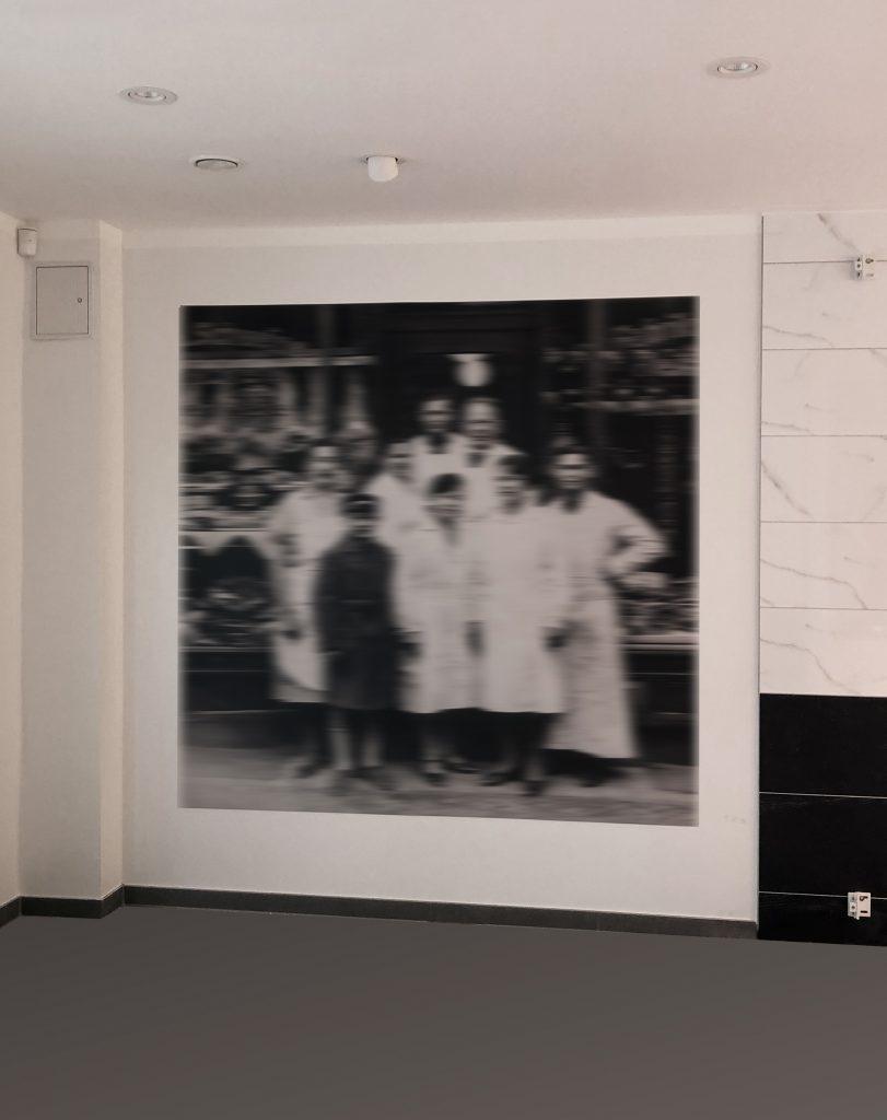 Werbetechnik Fleischerei Joppe, Fassadenwerbung, Interiour